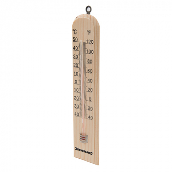 Wooden Thermometer Silverline -40 to +50C