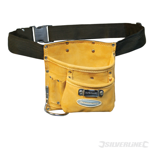 Nail & Tool Pouch Belt 5 Pocke Silverline 220 x 220mm