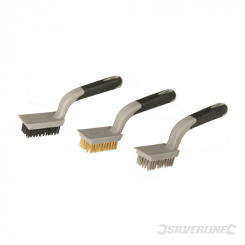Medium Wire Brush Set 3pce Silverline 5 Row