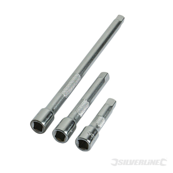 Extension Bar Set 3pce Silverline 1/4inch