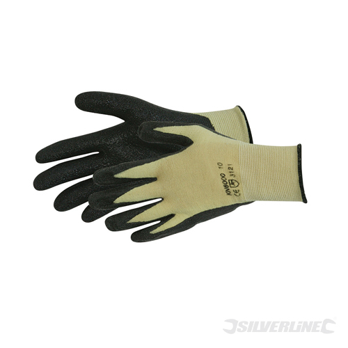 Kevlar Mix Nitrile Gloves Silverline L 10