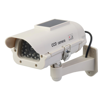 Dummy CCTV Camera with LED Silverline Solar-Powered