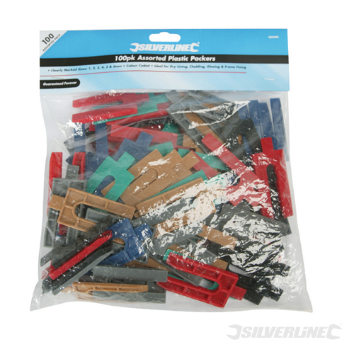 Assorted Plastic Packers 100pk Silverline 100pk