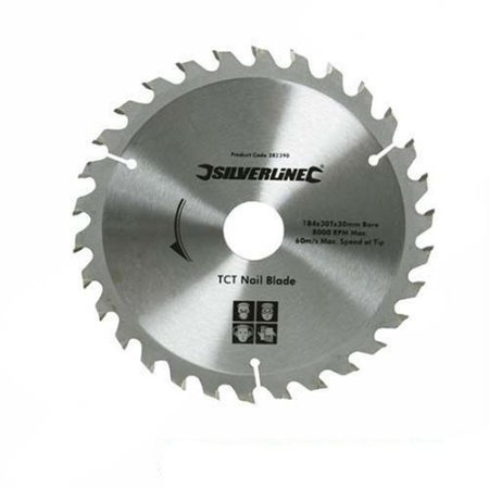TCT Nail Blade 30T Silverline 190 x 16 - No Rings