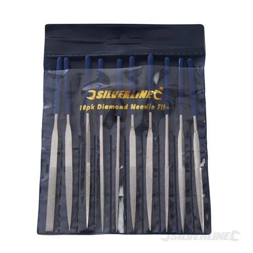 Diamond Needle File Set 10pce Silverline 10pce