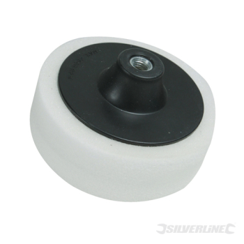 M14 Foam Polishing Head Silverline 150mm Firm White
