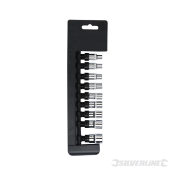 Socket Set 1/4inch Drive 6pt Impe Silverline 3/16inch - 1/2inch 9pce