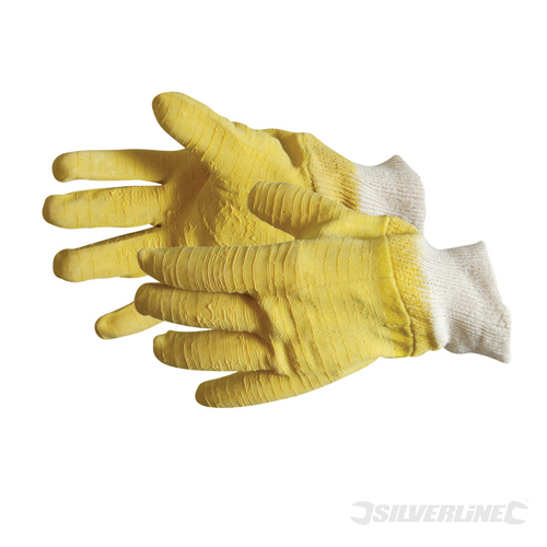 ¾ Crinkle Coat Gloves Silverline Large