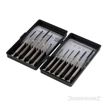 Jewellers Screwdriver Set 11pc Silverline 11pce