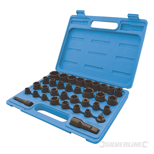 Impact Socket Set 35pce Silverline 35pce