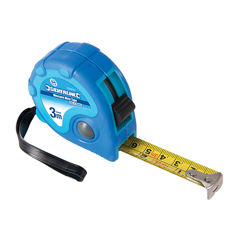 Measure Mate Tape Silverline 3m / 10ft x 16mm