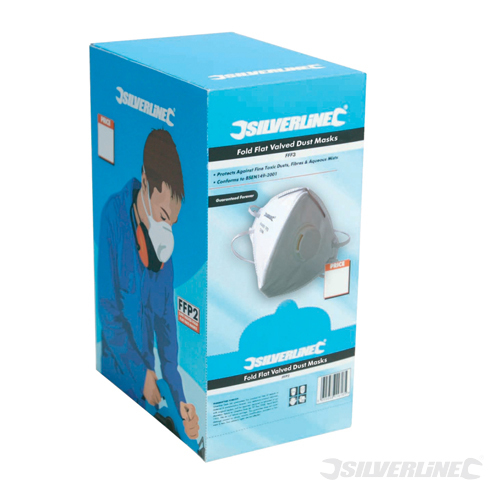 Fold Flat Valved Face Mask Silverline FFP3 NR 25pk