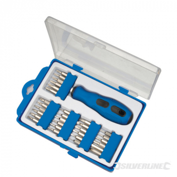 Precision Screwdriver Bit Set Silverline 31pce