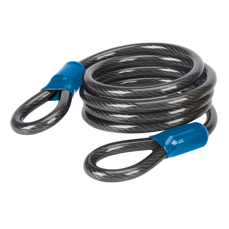 Looped Steel Security Cable Silverline 2.5m x 8mm
