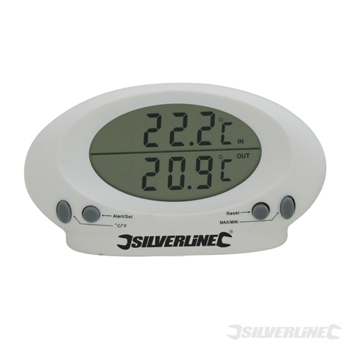 Indoor/Outdoor Thermometer Silverline -50C to +70C