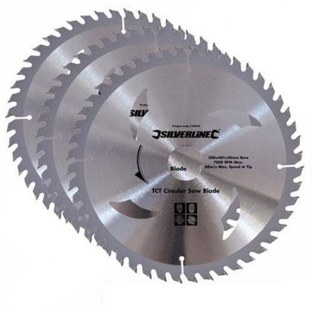 TCT Circular Saw Blades 3pk Silverline 210 x 30 - 25, 16mm