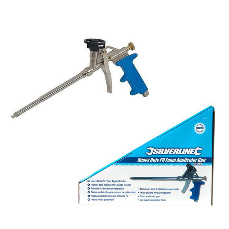 HDuty PU Foam Applicator Gun Silverline 200mm