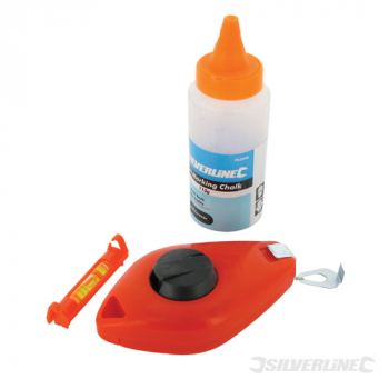 Chalk Line Set 3pce Silverline 16m