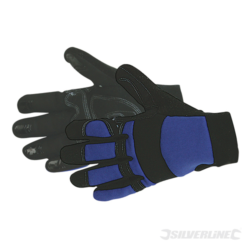 Mechanics Gloves Silverline Large