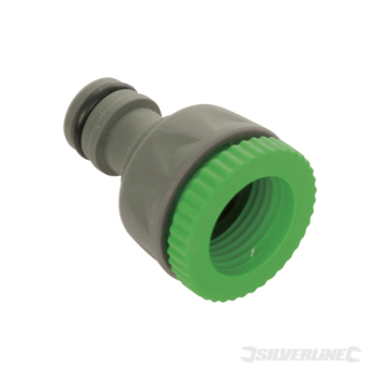 Soft-Grip Tap Connector Silverline 1/2inch - 3/4inch Male