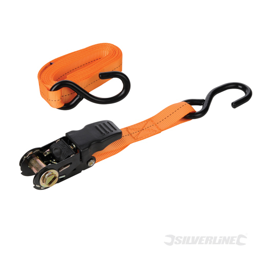 Rubber Ratchet Tie Down Strap Silverline Rated 250kg Cap 800