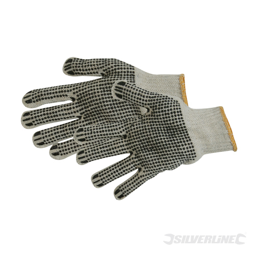 Double-Sided Dot Gloves Silverline Large