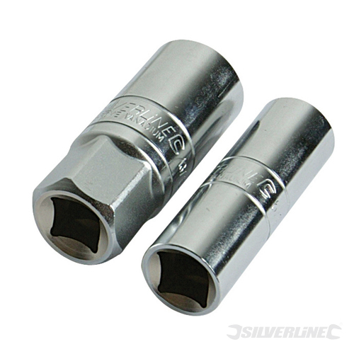 Spark Plug Deep Socket Set 2pc Silverline 1/2inch
