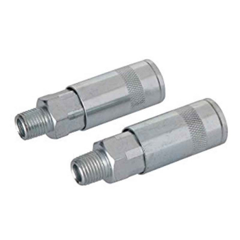 Air Line Quick Coupler 2pk Silverline 1/4inch BSP