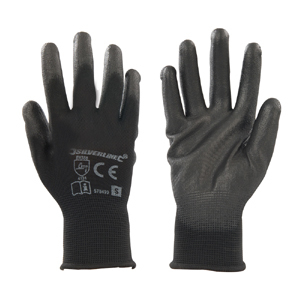 Black Palm Gloves Silverline L 10
