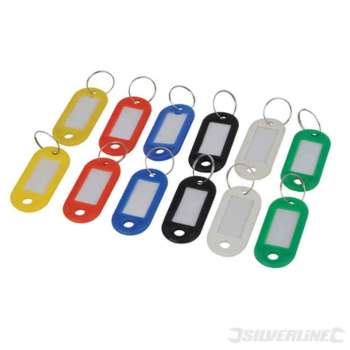 Assorted Coloured Key ID Tags Silverline 12pk