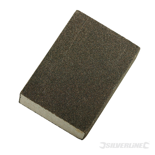 Foam Sanding Block Silverline Medium & Coarse