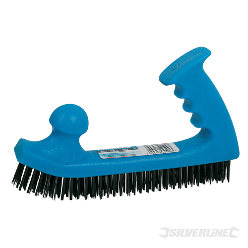 Wire Brush Jumbo Easy Grip Silverline 200 x 50mm