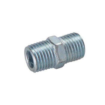 Air Line Equal Union Connector Silverline 1/4inch BSPT 2pk