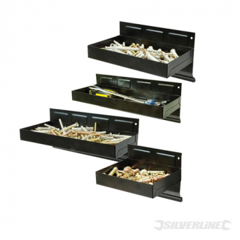 Magnetic Tool Tray Set 4pce Silverline 150 - 310mm