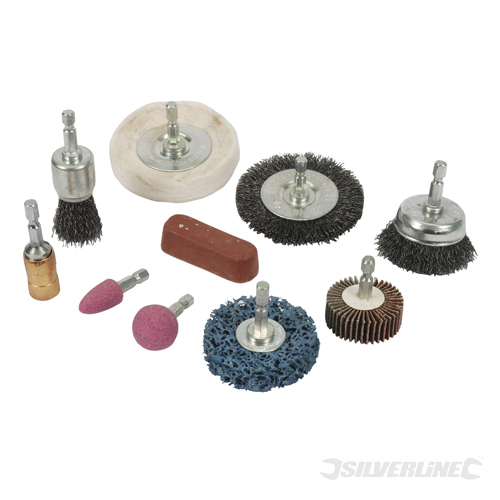Cleaning & Polishing Kit 10pce Silverline 6mm