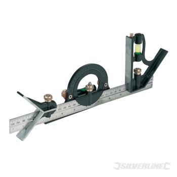 Combination Square Set Silverline 300mm
