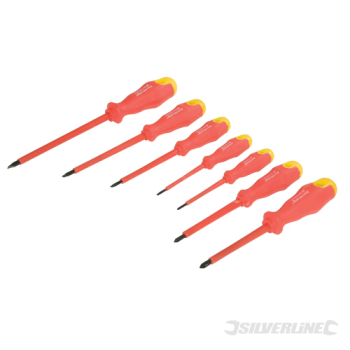 Insulated Soft-Grip Screwdrive Silverline Set 7pce