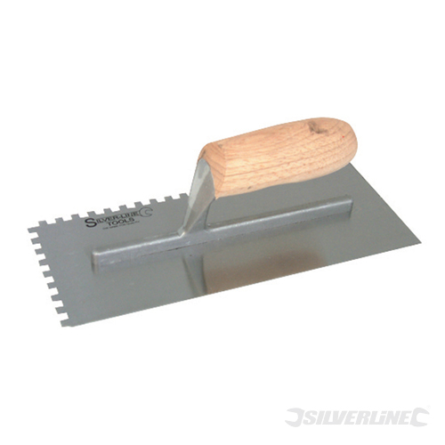 Adhesive Trowel Wood-Handle Silverline 280 x 120mm - 6mm T