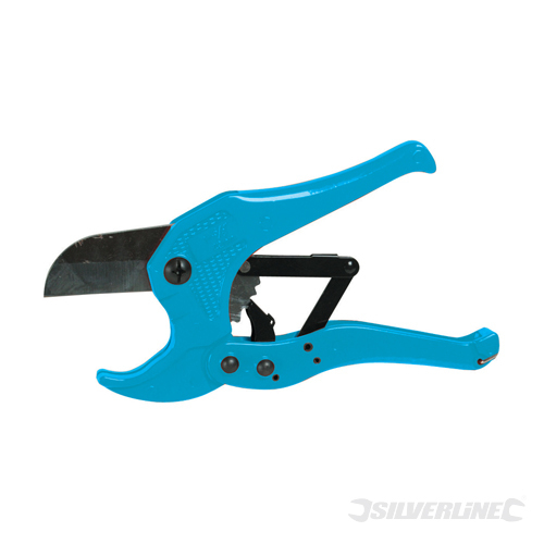 Ratcheting Plastic Pipe Cutter Silverline 42mm