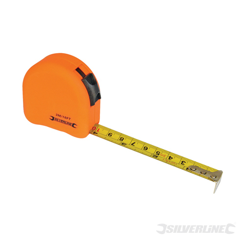 Hi-Vis Contour Tape Silverline 5m / 16ft x 19mm