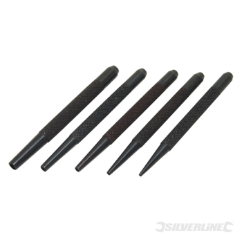 Nail Punch Set 5pce Silverline 1.5 - 5mm