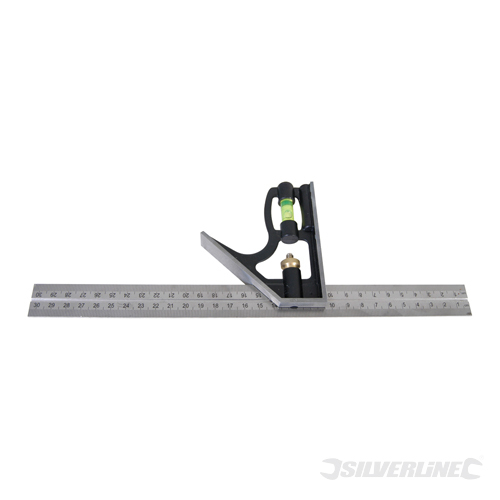 Heavy Duty Combination Square Silverline 300mm