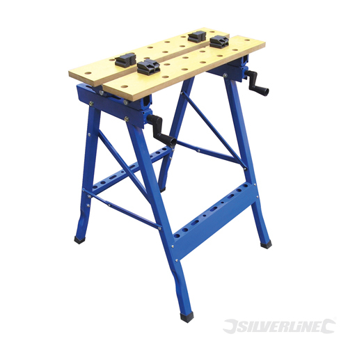 Heavy Duty Flip-Top Workbench Silverline 150kg