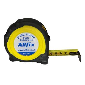 Tapes - Pocket TapesALLFIX Branded 8 Metre Tape Measure ...