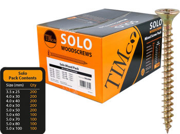 Solo Woodscrew Mixed Pack Box 1400 SOLOMP
