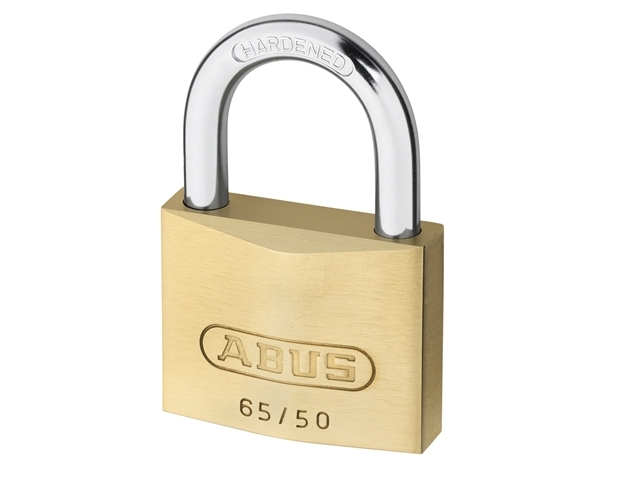 65/50mm Brass Padlock Twin Pack Carded