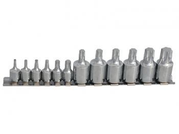 TORX Socket Set of 12 1/4 & 3/8in Square Drive