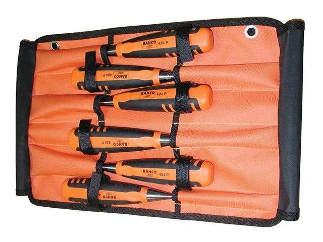 424-P Bevel Edge Chisel Set of 6 In Roll