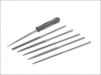 Needle File Set of 6 Cut 2 Smo oth 2-470-16-2-0 160mm (6.2in)