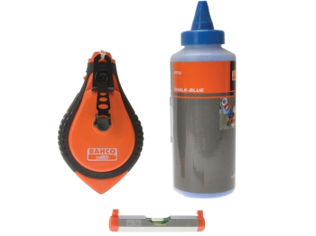 Blue Chalk Chalk Line & Line Level Set